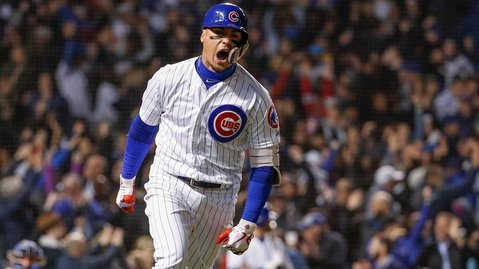 Chicago Cubs shortstop Javier Baez was showered with praise from his fellow All-Stars. (Credit: Kamil Krzaczynski-USA TODAY Sports)