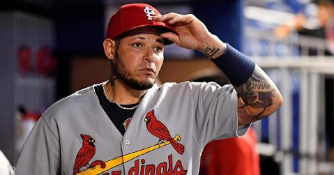 Yadier Molina stood up for a fellow catcher and shot down the Astros players who disagreed with him. (Credit: Jasen Vinlove-USA TODAY Sports)
