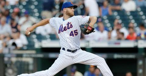With the trade deadline nearing, Mets starting pitcher Zack Wheeler has been linked to the Cubs. (Credit: Brad Penner-USA TODAY Sports)