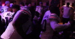 WATCH: Bears locker room celebration after win over Vikings