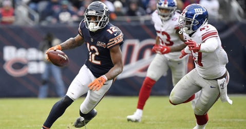 Bears wideout Allen Robinson II racked up a game-high 131 receiving yards on six catches. (Credit: Quinn Harris-USA TODAY Sports)