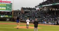 WATCH: Buster Skrine throws out first pitch at Crosstown Classic