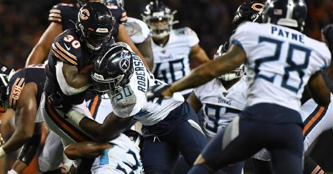 The Chicago Bears were edged out by the Tennessee Titans in a fairly uneventful preseason finale. (Credit: Mike DiNovo-USA TODAY Sports)