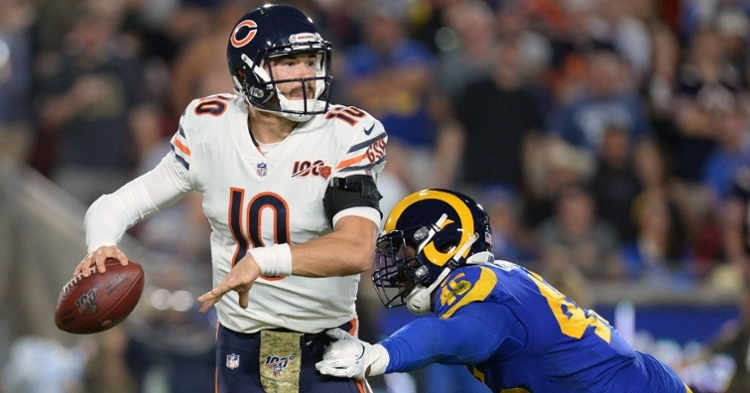 Trubisky currently is suffering from a hip injury (Gary Vasquez - USA Today Sports)