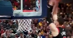 WATCH: Zach LaVine's insane alley-oop dunk
