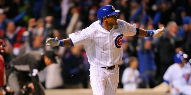 Cubs shortstop Addison Russell had himself a game on Friday
