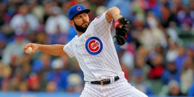 Jake Arrieta will be throwing for teams soon (Dennis Wierzbicki - USA Today Sports)
