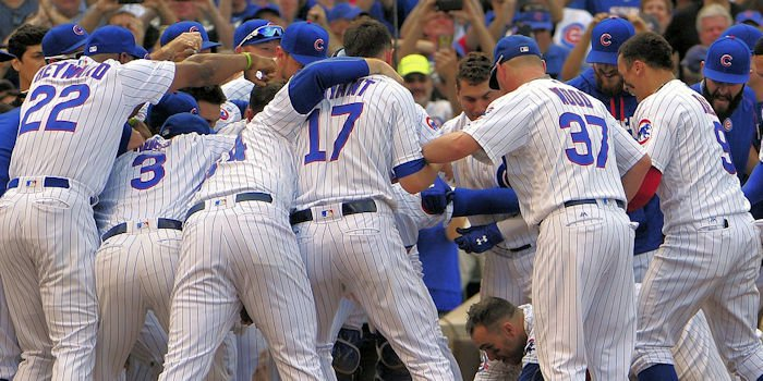 A day after winning the NL Central, the Chicago Cubs capped off the achievement with a walk-off home run.