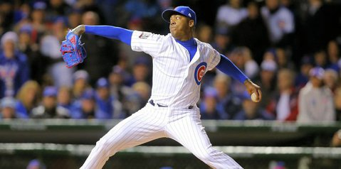 Maddon discusses the use of Lester, Chapman in bullpen