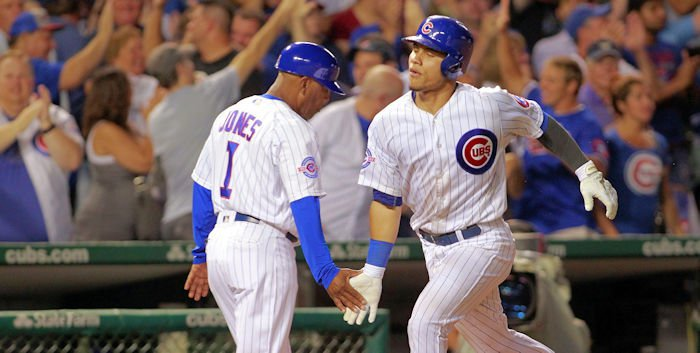 On the one-year anniversary of his MLB debut, Cubs catcher Willson Contreras answered the Padres' two solo shots with one of his own in the seventh.