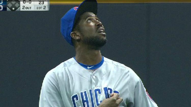 WATCH: Fowler catches ball despite roof leak