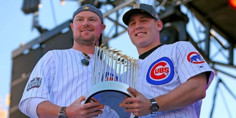 Jon Lester helped bring a WS trophy to the Cubs (Charles LeClaire - USA Today Sports)
