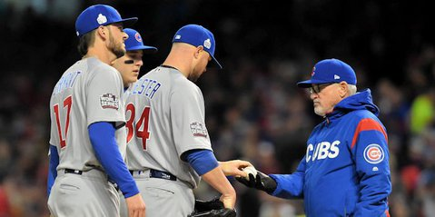 Starting pitcher Jon Lester did not fare particulary well on the bump for the Chicago Cubs in Game 1 of the 2016 World Series. - Ken Blaze-USA TODAY Sports
