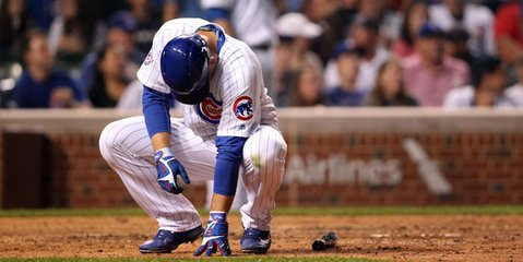 Thursday night's game featured several batters being hit by pitches, including Cubs first baseman Anthony Rizzo