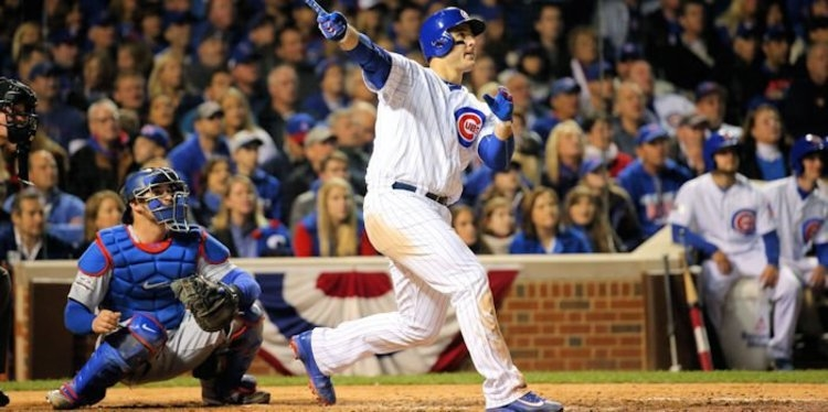 Chicago Cubs first baseman Anthony Rizzo went deep for the 13th time this season in the Cubs' 10-2 blowout win against the Miami Marlins.