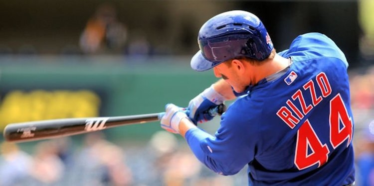 Cubs first baseman Anthony Rizzo batted in two critical runs on Saturday