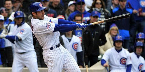 Pinch hitter Matt Szczur scored the winning run in Wednesday's wacky 5-4 Cubs victory over the Marlins.