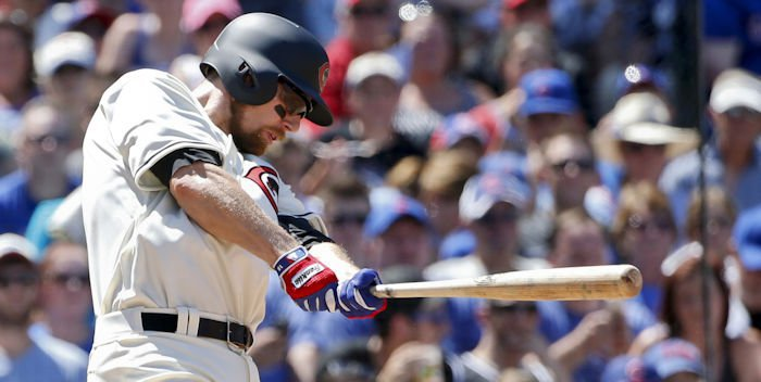 Cubs second baseman Ben Zobrist hit his 12th home run of the season on Wednesday