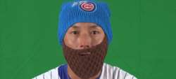 WATCH: Munenori Kawasaki puts on 'Arrieta Beard'