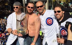 Travis Wood goes shirtless during Victory Parade