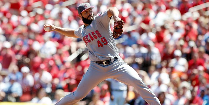 The Cubs' Jake Arrieta lost his second consecutive start after struggling against the Cardinals on Sunday. Credit: Scott Kane-USA TODAY Sports