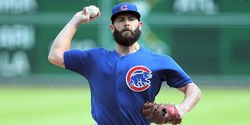Arrieta leaves game with leg injury