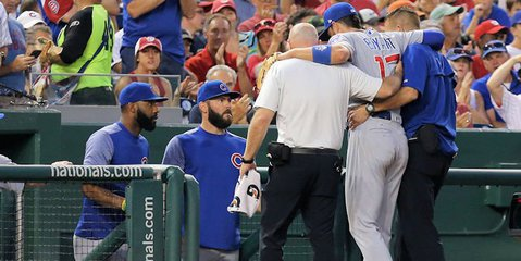 Kris Bryant updates the status of his injured ankle