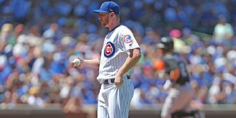 Former Cubs pitcher Eddie Butler lost his cool while pitching in a South Korean game. (Credit: Dennis Wierzbicki-USA TODAY Sports)