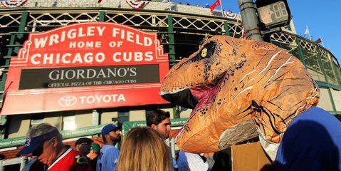 Carl Edwards likes dinosaurs (Jerry Lai - USA Today Sports)