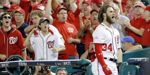 With arguably the most dangerous hitter in baseball at the plate in Bryce Harper, Carl Edwards, Jr., was proven to have been over his head rather quickly. (Credit: Geoff Burke-USA TODAY Sports)