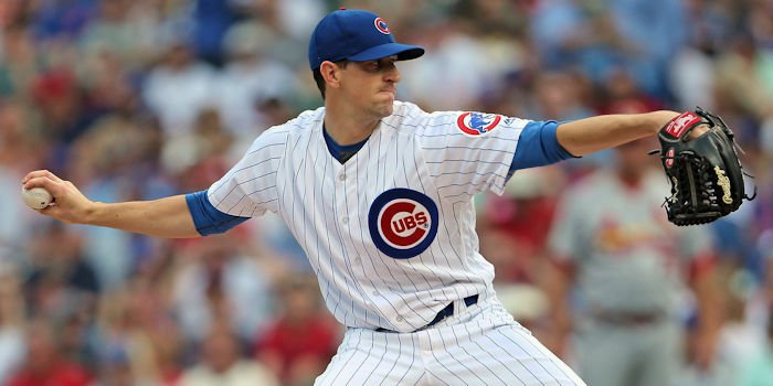 Kyle Hendricks has struggled with home-run balls this year, giving up more than any other Cubs starter. (Photo Credit: Dennis Wierzbicki-USA TODAY Sports)
