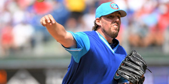 Cubs starter John Lackey's woeful fifth inning ultimately contributed to the loss for Chicago. (Photo Credit: Eric Hartline-USA TODAY Sports)
