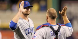 "David Ross says thank you to Jon Lester: ""I love you and will miss you left-hander!"""
