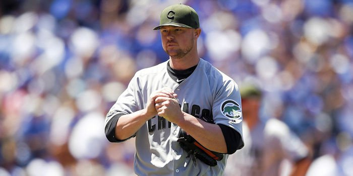 Jon Lester falls to 3-3 after Sunday's loss (Photo by Kelvin Kuo, USA TODAY Sports)