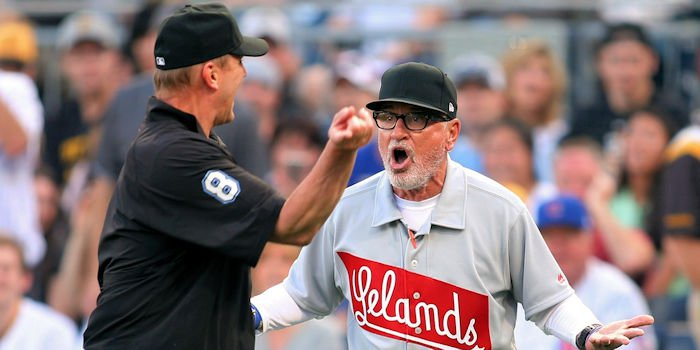 Clearly inspired by the fiery display of emotion from manager Joe Maddon at the game's start, the Chicago Cubs refused to go quietly. Credit: Charles LeClaire-USA