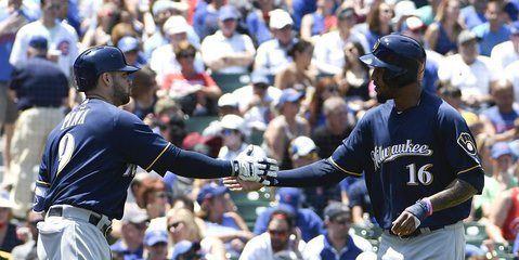 Outfielder Jon Jay was forced to pitch for the Cubs on Thursday. That speaks volumes on the Brewers' dominance at the plate in their commanding victory. Photo Credit: David Banks-USA TODAY Sports