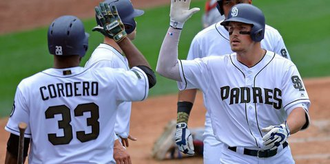 The San Diego Padres had eight hits on the day, but one of them in particular made for plenty of elation at Petco Park. Credit: Jake Roth-USA TODAY Sports