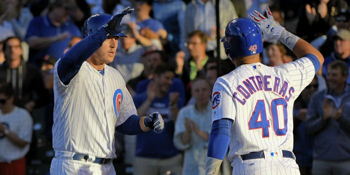 Anthony Rizzo has the fourth-most leadoff homers in baseball this year, and he has batted leadoff only seven times. Credit: Matt Marton-USA TODAY Sports
