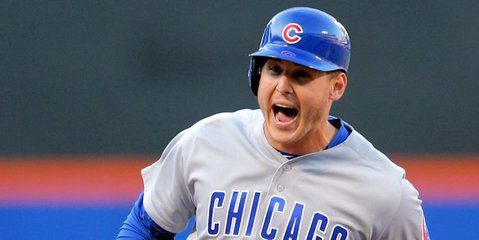 The Cubs were unable to capitalize on Anthony Rizzo's home run to start the game. Credit: Brad Penner-USA TODAY Sports