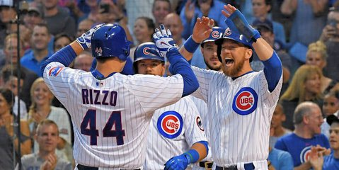 Chicago Cubs first baseman Anthony Rizzo hit the third grand slam of his career on Wednesday. Photo Credit: Patrick Gorski-USA TODAY Sports