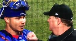 WATCH: Home umpire punches Contreras in the mouth