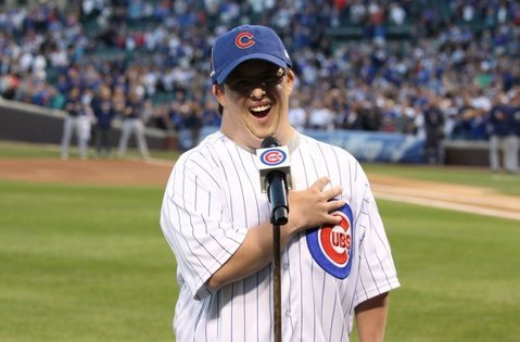 Stefan Xidas fulfilled a longtime dream of singing the National Anthem at a Chicago Cubs game.