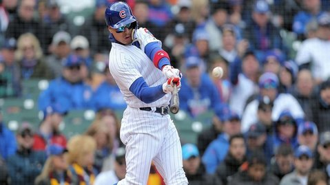 Javier Baez's inability to make a play on the defensive end overshadowed his clutch home run. (Photo Credit: Dennis Wierzbicki-USA TODAY Sports)