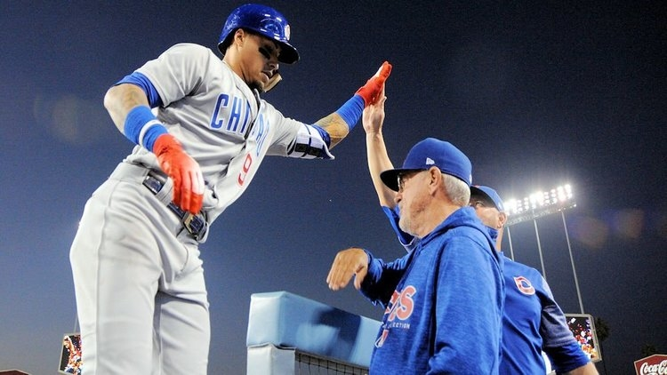 Baez and Maddon got along well (Gary Vasquez - USA Today Sports)
