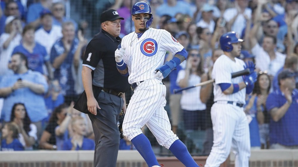 Javier Baez scored the sole run of the ballgame on a two-out single in the bottom of the sixth. (Photo Credit: Kamil Krzaczynski-USA TODAY Sports)