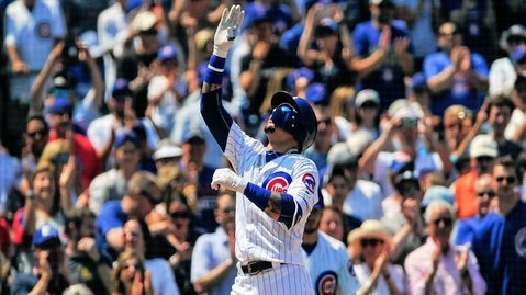 All-Star infielder Javier Baez's two hits were very critical to the Cubs' thrilling win. (Photo Credit: Jeffrey Baker-USA TODAY Sports)