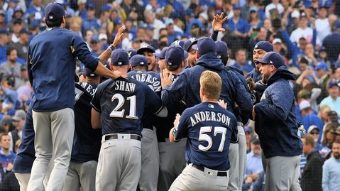 The Brewers closed out the regular season with eight consecutive wins to finish in first place in the National League Central. (Photo Credit: Patrick Gorski-USA TODAY Sports)