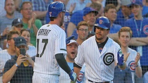The Chicago Cubs rallied around themselves after falling down 3-0, amassing 13 total hits and winning by five runs. (Photo Credit: Dennis Wierzicki-USA TODAY Sports)