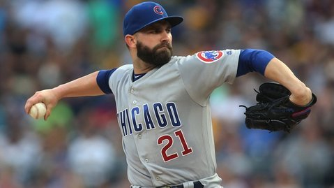 Tyler Chatwood doomed the Cubs by giving up three runs in the second inning. (Photo Credit: Charles LeClaire-USA TODAY Sports)