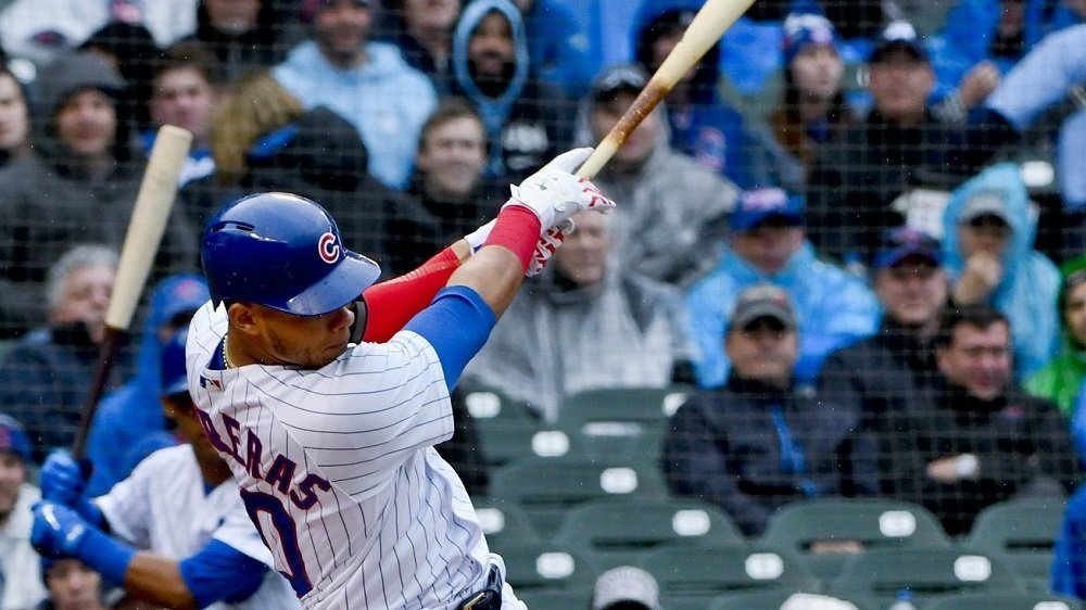 Willson Contreras set the tone for the Cubs with a first-inning grand slam and went on to have arguably the best game of his career. (Photo Credit: Matt Marton-USA TODAY Sports)